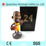 La figura calda la resina Kobe del giocatore di pallacanestro della resina di vendita Bobble la testa