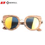 Gafas de sol en línea de madera de la cebra del descuento de Namebrand que hacen compras
