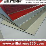 Panneau composé en aluminium personnalisé de couleur pour la façade