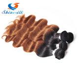 Выдвижение 100% волос Ombre 1b/30 волос девственницы человеческих волос бразильское белокурое бразильское