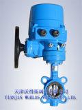 Válvula de borboleta de controle automático com atuador elétrico (D971X-10/16)