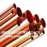Tubo de cobre sem costura edifício reta do tubo de cobre