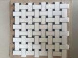 Конкурсные кирпича белой мраморной мозаикой плитки на продажу