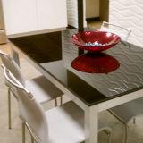 La Chine meilleur 6/8/10/12mm bord poli plat en verre Dinningtabletop d'impression couleur