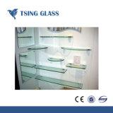 Claro Vidrio / estante Estante de cristal templado en la esquina / estante de cristal para Showeroom/nevera o la decoración