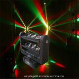 1人のクリー語LED Spider Beam Moving Head Lightの8*10W RGBW Quad