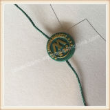 Tag redondos plásticos do selo da corda do vestuário do estilo da forma