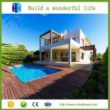 Diseño de lujo prefabricado y gráfico de la casa del chalet de la estructura de acero