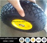 Le rotelle gonfiabili del carrello colpiscono la rotella di gomma pneumatica 9 pollici
