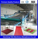 PVC 두 배 색깔에 의하여 살포되는 코일 지면 및 차 매트 플라스틱 생산 라인