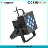 무선 9X10W RGBW 4in1 건전지 LED 동위는 빛 할 수 있다