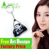 다채로운 디자인 다이아몬드 영국 연약한 고무 최신 판매 PVC Keychain