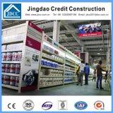 Construction préfabriquée de supermarché de structure métallique