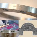 La placa de metal de la máquina marca de neumáticos