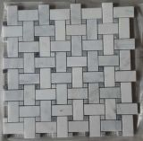 Konkurrierender Ziegelstein-Entwurfs-weiße Marmormosaik-Fliesen auf Verkauf