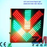Feu de signalisation électronique de la lumière de signal de commande de voie/DEL avec la Croix-Rouge et la flèche verte