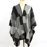Fashion Geometry Pattern Acrylicによって女性編まれる冬の長いショール(YKY4507)