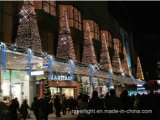 Outdoor LED Music Christmas String Street Curtain Light for Market