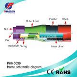 Кабельный соединитель RF f CATV обжатия Rg11 для коаксиального (pH6-5039)