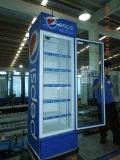 vertikale Bildschirmanzeige-Kühlvorrichtung der Qualitäts-400liter aufrechte Showase Getränk-Kühlvorrichtung