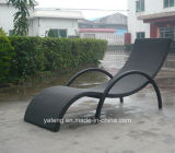 Hot Selling Double Recliner Chaise Outdoor Rattan Furniture Lounge avec accoudoir en teck