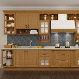 Gabinete de cozinha modular de madeira sólida de carvalho vermelho (OP15-S07)