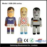 Azionamento di plastica all'ingrosso dell'istantaneo del USB di figura del fumetto del ragazzo di Charater (USB-206)