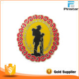 Fabricants Custom Metal Crafts 1914 Poppies Imitation Enamel Badge Metal Insigne commémoratif Badge en métal