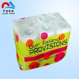 Venta al por mayor personalizado Bulk envuelto individualmente en relieve suave papel higiénico de tocador