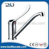 Mélangeur médical de bassin de levier de chrome simple de traitement de robinet de bassin de cuisine