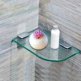 Mensola di vetro del cerchio quarto con i bordi Polished