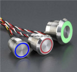 Steel di acciaio inossidabile Capacitive Switches con Large o Thin Ring (16mm 19mm 22mm 25mm)