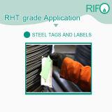 Forma redonda de acero de poliimida etiqueta, papel adhesivo de alta temperatura