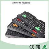 Последние Эргономичный USB Мультимедиа Водонепроницаемый Игровая клавиатура