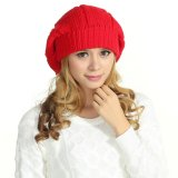 POM POM 100% Lã Crochet Berets Beanie Hats