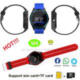 Het Slimme Horloge van de Pols van Bluetooth van de camera met de Groef van de Kaart SIM W9