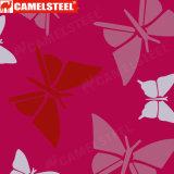 熱い販売の蝶パターンカラーは塗ったPrepainted冷間圧延されたAlZnの鋼鉄コイル(PPGI PPGLのGI GL)に