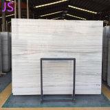 건축재료를 위한 자연적인 수정같은 나무로 되는 백색 대리석 석판