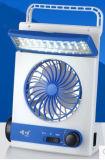再充電可能なSolar EnergyランプLEDの軽いファンおよび太陽読書ランプを持つ太陽扇風機