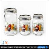 Glasflaschen-Maurer-Glas ohne Griff für Salat