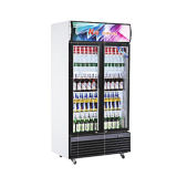 Супермаркет воздушного охлаждения энергетический напиток на дисплее в вертикальном положении охладителя