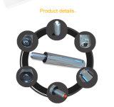 Noir et Chrome béquille à gaz pour fauteuil pivotant