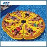 De Opblaasbare Drijvende Vlotter van uitstekende kwaliteit van de Pool van de Pizza van de Rij