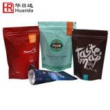 Levar in piedi in su il sacchetto di caffè di plastica del sacchetto del caffè con la chiusura lampo