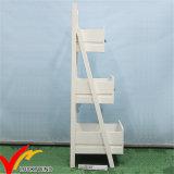 Estante de madera blanco de 3 niveles