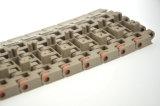 옆 Tranfer를 위한 모서리를 깎아낸 가장자리 플라스틱 모듈 컨베이어 벨트