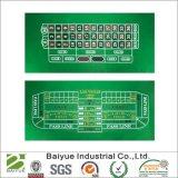Cópia verde do jogo do poliéster sentida/esteira do jogo/esteira do póquer