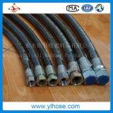 """Le fil d'acier d'En856 4sh/4sp 3/4 """" s'est développé en spirales boyau hydraulique"""