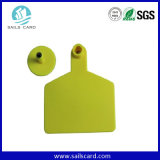 Animal doméstico plástico de ISO11784/5 Fdx-B/Hdx que sigue la etiqueta de oído de la identificación de la vaca de RFID