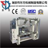 Máquina rebobinadora y cortadora longitudinal para gran rollo de papel